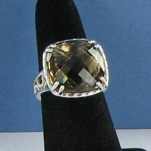 Tacori Truffle Smokey Quartz Ring Sterling Silver 18k Yellow Gold Sz 7 N... - $368.59