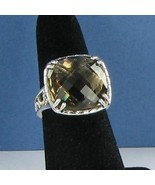 Tacori Truffle Smokey Quartz Ring Sterling Silver 18k Yellow Gold Sz 7 N... - $368.59