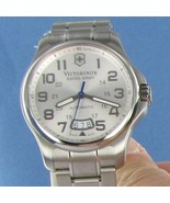 Victorinox Swiss Army 241372 Officers Mecha Silver Dial Watch New $825 - $676.19