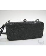 Kathrine Baumann Jet Black Bar Jeweled Swarovski Evening Bag $2162 Ltd E... - $1,028.99