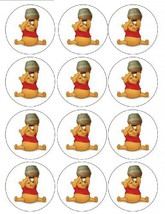 Single Source Party Supply - Winnie the Pooh Cupcakes Edible Icing Image #2 - $7.84