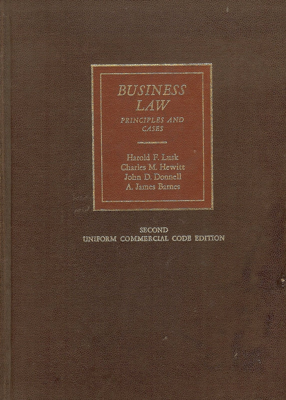 Uniform Commercial Code Edition Business Law Second Edition [Hardcover] [Jan 01,