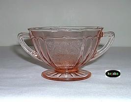 Mayfair Open Rose Pink Sugar Bowl Hocking - $23.95