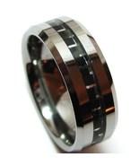 TU3109 Black Carbon Fiber Tungsten Carbide Ring  - $21.99