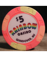 "$5.00 Casino Chip From: ""The Rainbow Casino"" - (sku#2657) - $3.49"