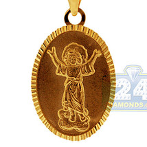 Real 10K Yellow Gold Jesus Christ Medallion Men... - $187.11