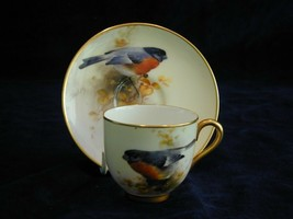 Royal Worcester Demi Tasse Coffee Cup And Saucer Signed Barker - $933.30