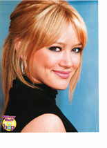 Hilary Duff teen magazine pinup clipping side profile black shirt Bop