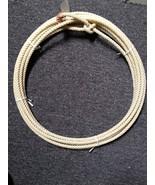 Ranch Rope Western 30 Feet ' Ft Waxed Nylon Meduim Lay Leather Burner Ne... - $20.79