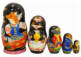 "Mitten Story Nesting Doll - 6"" w/ 5 Pieces - $60.00"