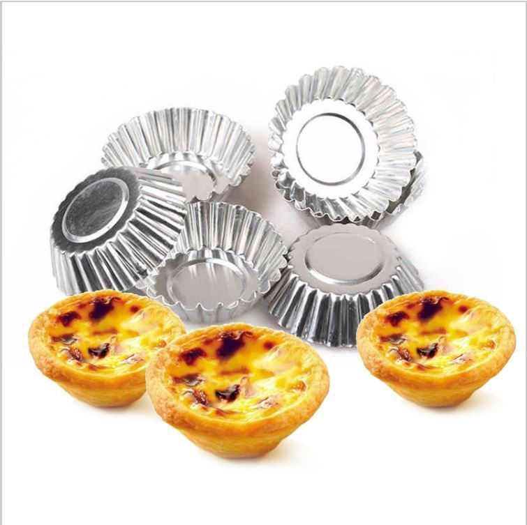 50 pcs Egg Tart Cupcake Mold Cookie Cake Bakeware Home Kitchen Baking Tin Tool