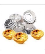 50 pcs Egg Tart Cupcake Mold Cookie Cake Bakeware Home Kitchen Baking Ti... - $28.19 CAD
