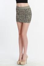 Beige Leopard Print Skirt One Size - $22.50