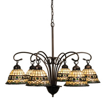 "Meyda Home Indoor Decorative 31""W Tiffany Roman 6 Lt Chandelier 1235-18528 - $1,121.40"