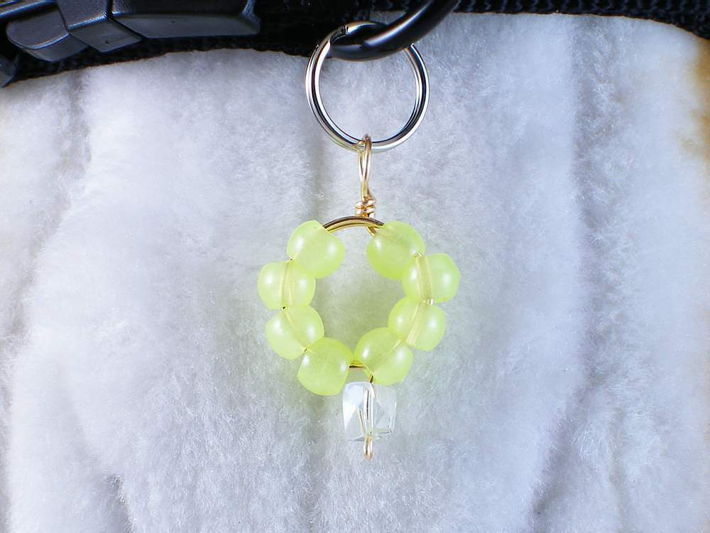 Dog collar charm - Night n' Day, glow-in-the-dark pendant for you or your pet - $6.00