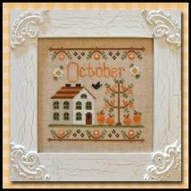 October Cottage of the Month Series cross stitch chart Country Cottage Needlew - $5.40