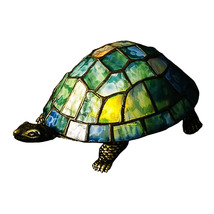 "Meyda Home 4""H Turtle Tiffany Glass Accent Lamp - 1235-10270 - $97.04"