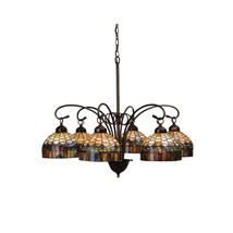 "Meyda Home Indoor Decorative 31""W Tiffany Candice 6 Lt Chandelier 1235-1... - $1,110.60"