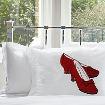 One RUBY RED Slippers pillowcase the pillow cover case high heel bow shoes  - $12.99