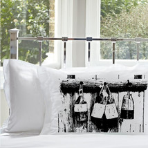 One (1) Black Buoys White Standard Nautical Pillowcase pillow cover - $11.99