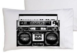 Two (2) A Boombox Is Not A Toy pillowcase funny pillow cover boom box hilarious  - $19.99