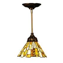 """Meyda Home 8""""W Jadestone Delta Mini Pendant Ceiling Fixtures - 1235-103045 - $232.47"""