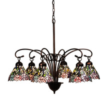 "Meyda Home Indoor Decorative 30""W Wisteria 6 Lt Chandelier 1235-18720 - $1,110.60"