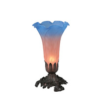 "Meyda Home Indoor Decorative 8""H Pink/Blue Pond Lily Accent Lamp - 1235-... - $80.20"