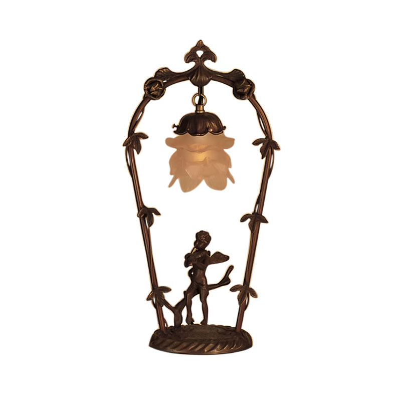 "Meyda Home Indoor Decorative 19""H Cherub With Violin Accent Lamp - 1235-11518"