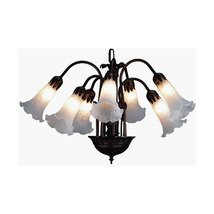 "Meyda Home Indoor Decorative 20""W White Pond Lily 7 Lt Chandelier - 1235... - $369.00"