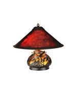 "Meyda Home 15.5""H Van Erp Amber Mica Lighted Base Table Lamp - 1235-118681 - $357.21"
