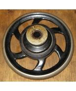 National Sewing Machine Co. Two Spool Hand Wheel 6 Spoke, Belt Pulley Co... - $10.00