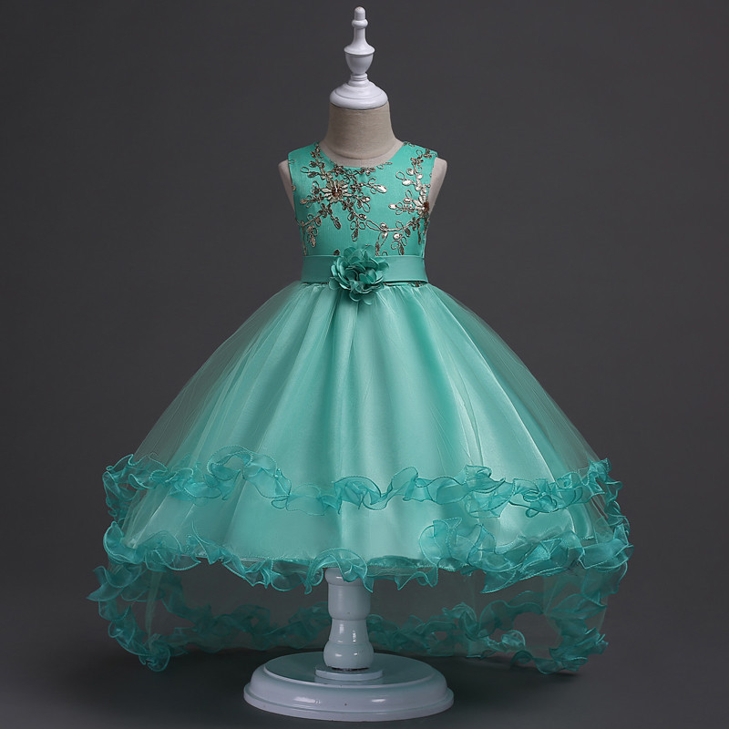 Primary image for Mint Green Flower Girls dress Evening Party Pageant Dress for Girls in 4 colors