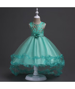 Mint Green Flower Girls dress Evening Party Pageant Dress for Girls in 4... - $82.55 CAD+