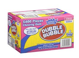 Dubble Bubble Tab Chewing Gum - 5400 ct - $58.66