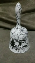 Vintage bell souvenir Minnesota NMN 93 wild lake trees bird canoe sunset... - $9.99