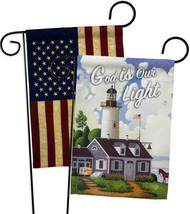 God is Our Light - Impressions Decorative USA Vintage - Applique Garden Flags Pa - $30.97