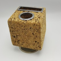 Cork Pencil Holder Bulletin Cube Desktop Desk Pat Rotating Revolving USA... - €17,49 EUR