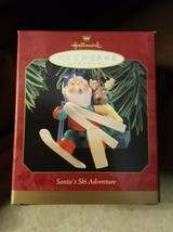 Hallmark Ornament 1997 Santa's Ski Adventure - New In Box - $5.00