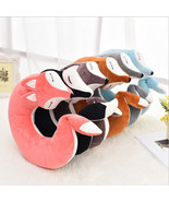 Neck Travel Pillow Fox Animal U Shaped Head Support Air Cushion Portable... - £17.75 GBP