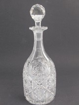 American Brilliant  Cut Glass  decanter ABP Antique - $129.62