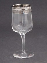 "Lenox etched  wine glass .7"" platinum band Crystal  Made in USA Mt Plea... - $17.60"