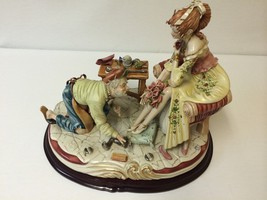 Tiziano Galli Capodimonte Cobbler Lady Very Large Detailed Figurine Italy 10/100 - $1,372.00