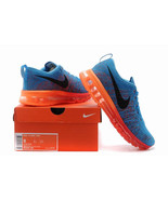 Nike Flyknit Air Max Men Runing Shoes Blue\Orange