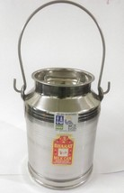 Stainless steel milk oil liquid storage can jug pot for dairy farm 5 lit... - $45.60