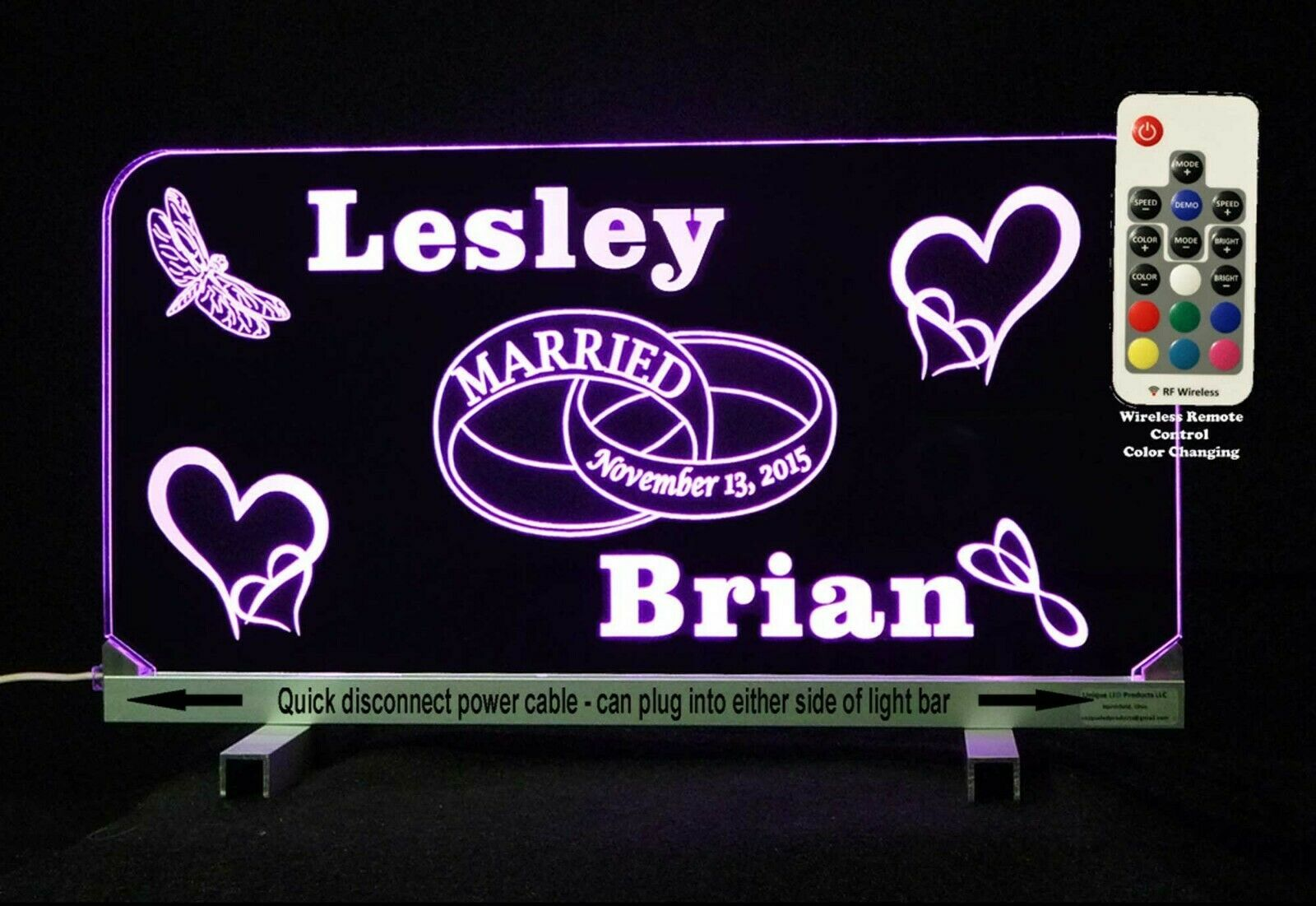 Primary image for LED Wedding Sign, Weddings, Wedding Gifts, Anniversary, Personalized Gifts