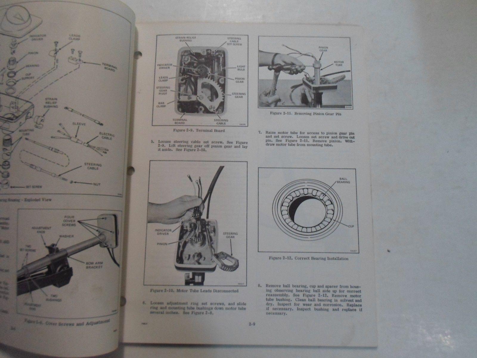 1977 Evinrude Service Shop Repair Manual Electric EB 52 54 82 84 OEM Boat WORN image 11