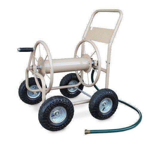 Hose Reel Cart 4 Wheel Garden Water Watering Plant Portable Outdoor Yard Storage
