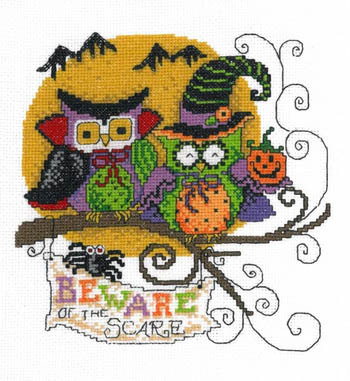 Primary image for Beware The Scare halloween cross stitch chart Imaginating