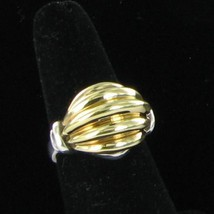 Lagos Bold Gold Ring Sz 7.5 Ring 18k Yellow Gold Rouche Dome NEW $995 - $587.99